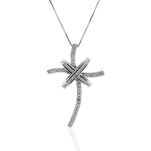 Star Cross Diamond Pendant