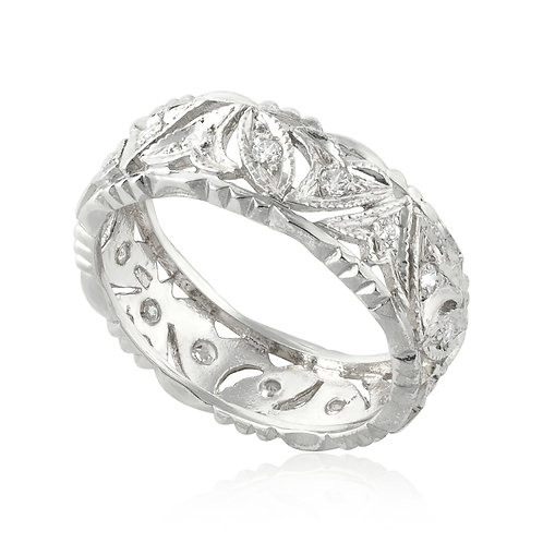 Vintage Classic Engraving Wedding Ring