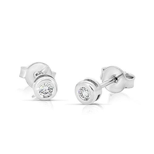 Solitaire Stud Diamond Earrings
