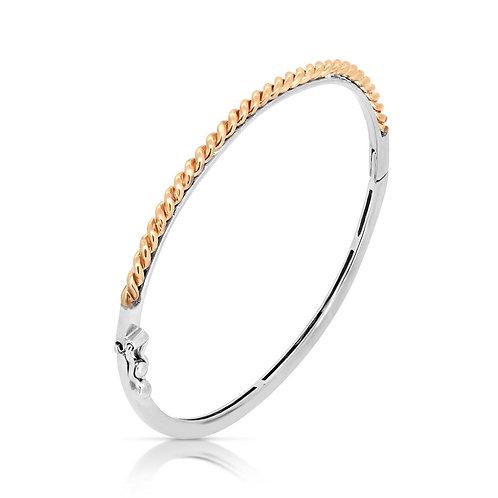 White & Rose Gold Valentine's Bracelet