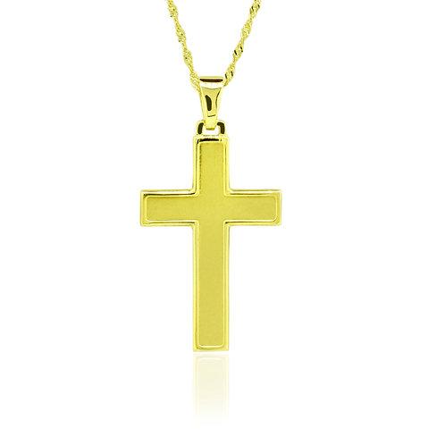 14K Gold Latin Cross Pendant