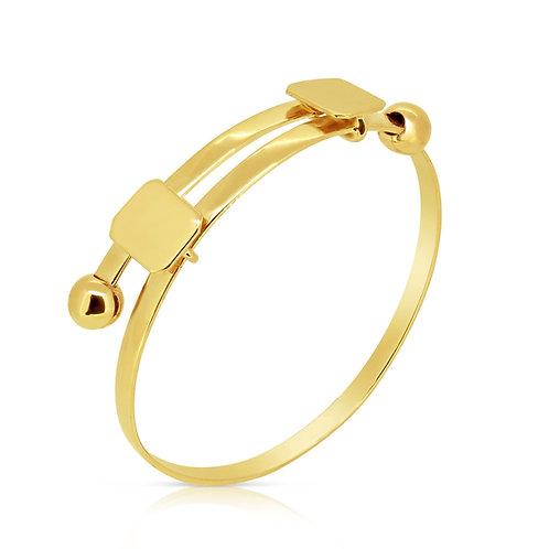 Expandable Baby Child Gold Bracelet