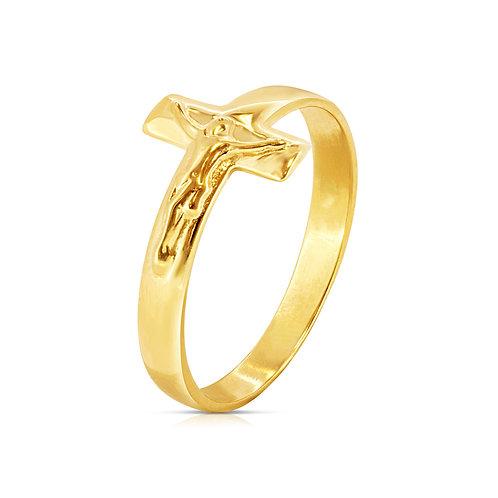 Unique Slick Cross Neat Ring