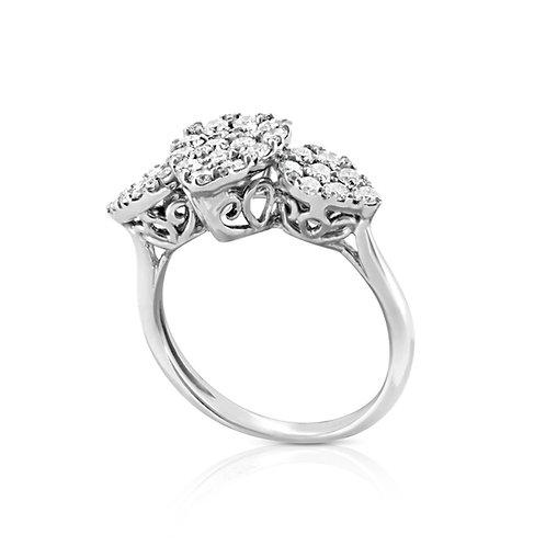 Vintage Pear Decorate Diamond Ring