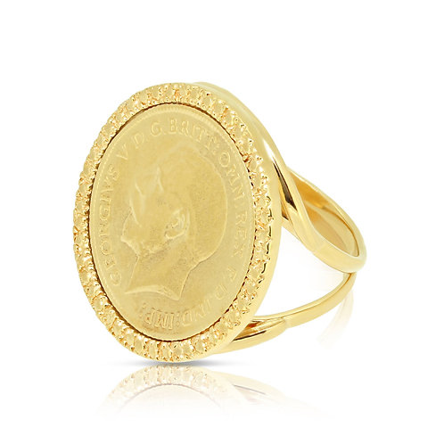 Unique Oriental Half Sovereign Ring