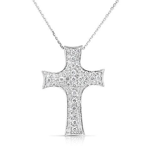 Thick Bow Heads Diamond Inlaid Cross