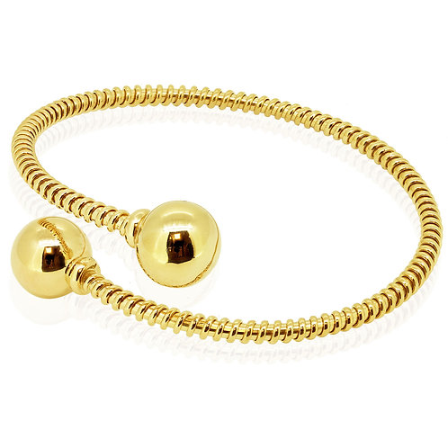 Open Oriental Gold Bracelet