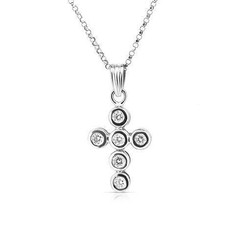 Circles Diamond Cross Pendant