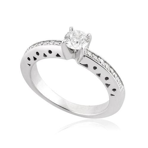 Engagement Ring, Modern Diamond Band