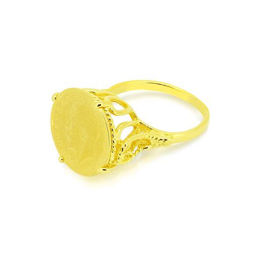 Crown Narrow Shank Quarter Sovereign Ring