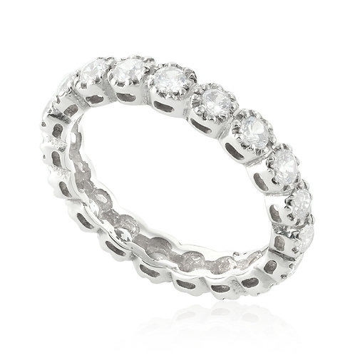 Classic 8 Prong, Wedding Band