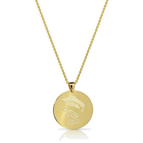 Gold Custom Engraving Pendant