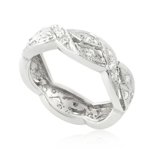 Vintage Wind Flow Wedding Ring