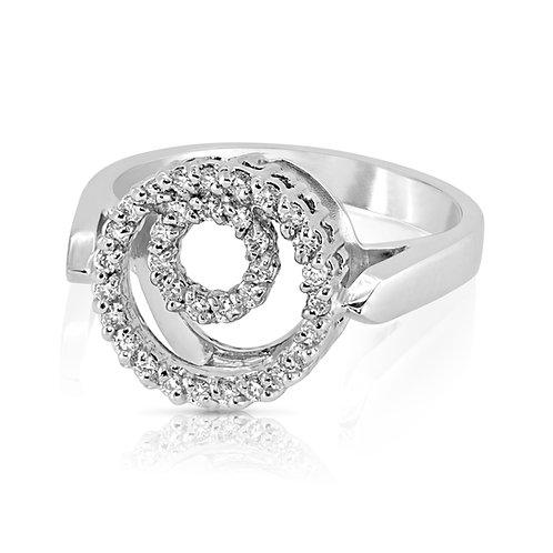 Loops Delicate Diamond Ring