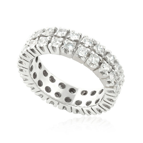 Double Classic Vintage Prong Ring