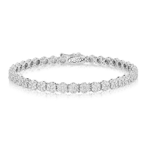 Tennis Pave Blossom Diamond Bracelet