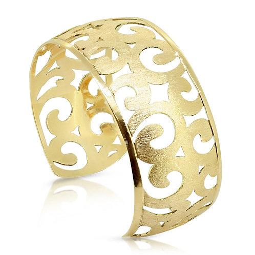 Open Bangle, Oriental Twirl Bracelet