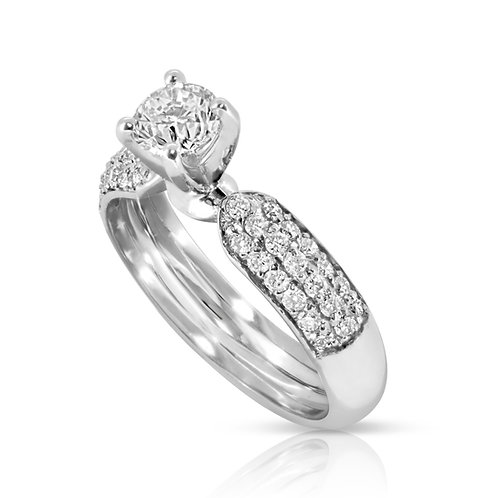 Bold Classic Diamond Engagement Ring