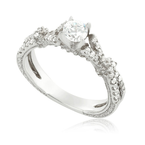 Vintage Greek Classic Engagement Ring