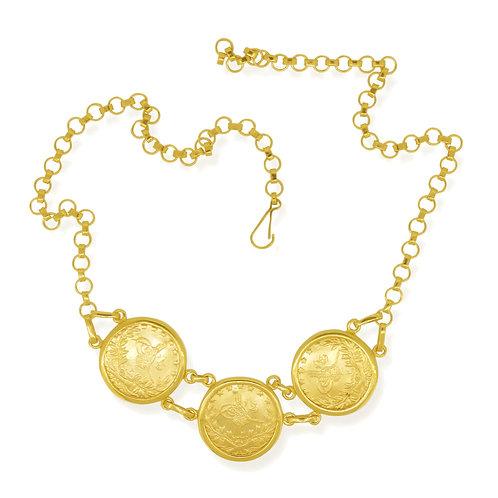 Handmade Ottoman Kurush Sovereign Coin Necklace