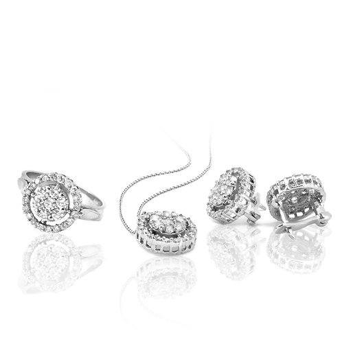 Diamond Infinite Love Circle Set