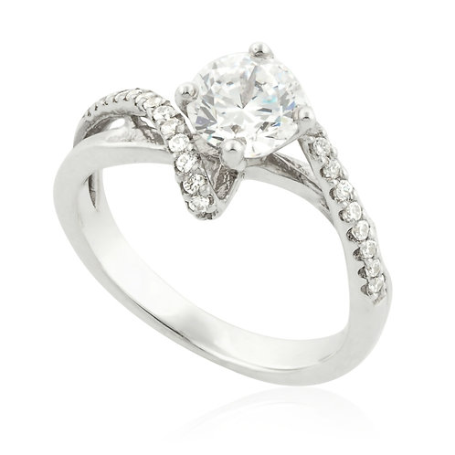 Classic Roller Head Engagement Ring