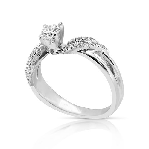 Bridal Dual Diamond Ring Set