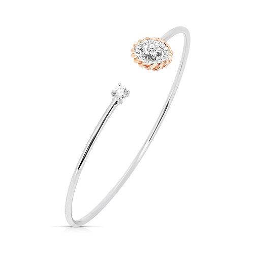 White & Rose Gold Diamond Bracelet