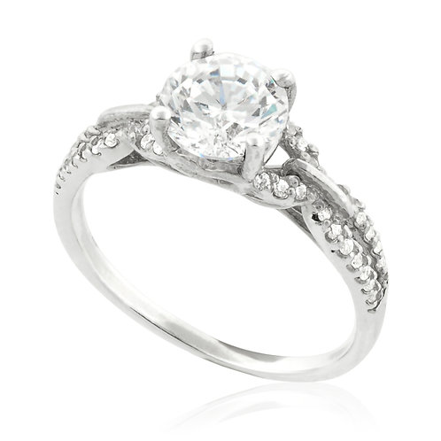 Classic Central & Sides Engagement Ring