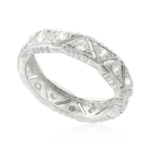 Vintage Classic Triangle Wedding Ring