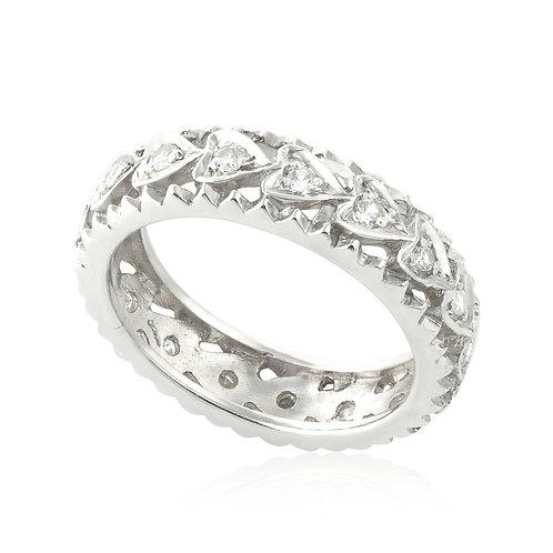 Vintage Hearts Wedding Ring