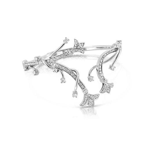 Charming Ornamented Diamond Bracelet