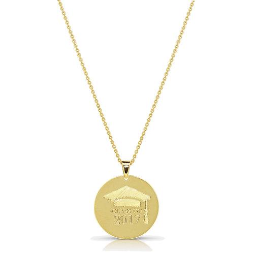 Custom Engraving Gold Pendant