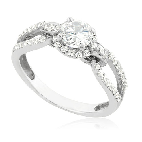 Modern Claw Prong engagement Ring