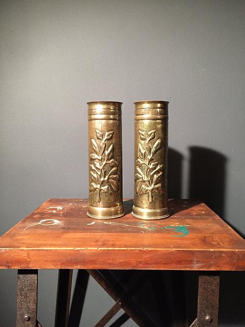 WW1 1917 trench art vases