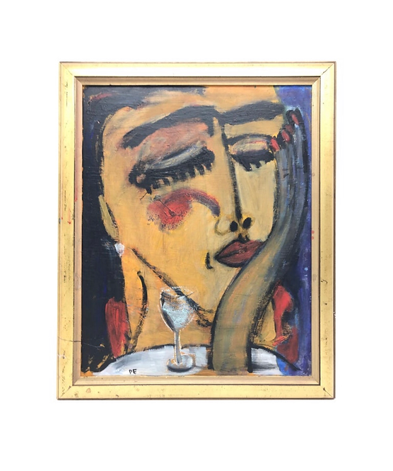 Modernist Oil on Panel by Per PePe Engberg