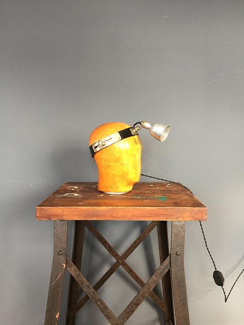 Antique medical head lamp