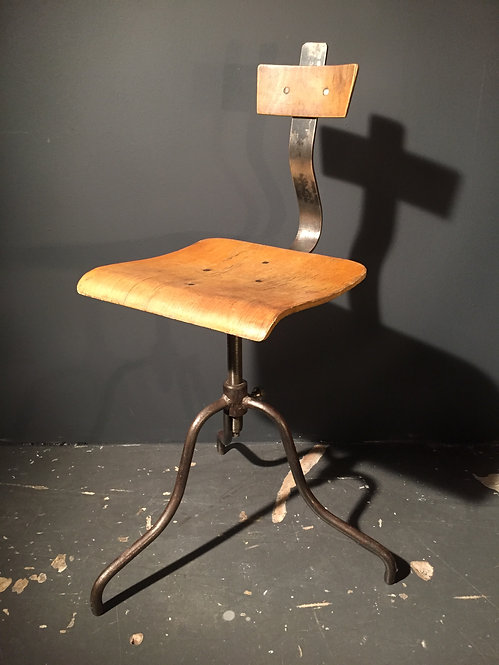 Mid century industrial stool