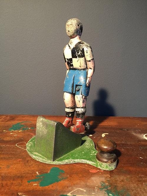 Early century cast aluminum fairground footballers