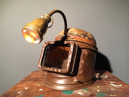 Early to mid century mask lamp