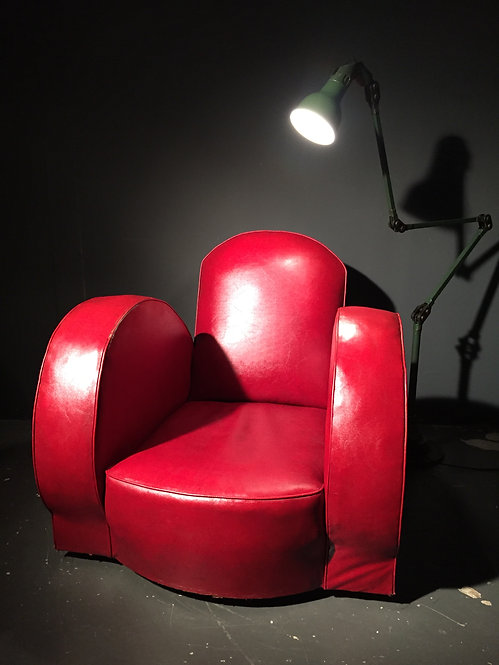 1950s Faux Leather Club Chair