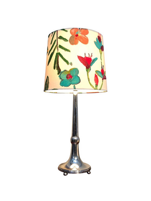 Art Deco Silver Plated Swedish Table Lamp from 1929