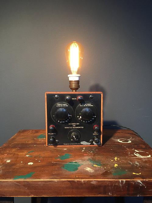Amp meter table lamp