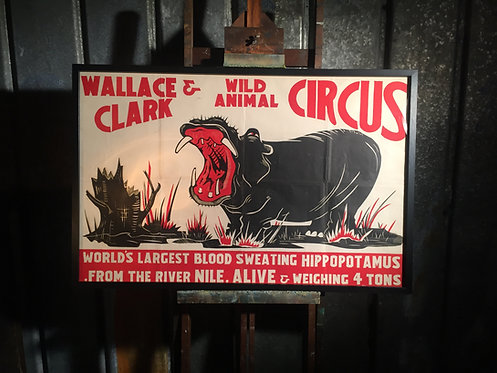 Lithographic circus poster