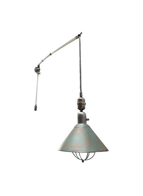 Antique Triplex telescopic work lamp from the 1930s