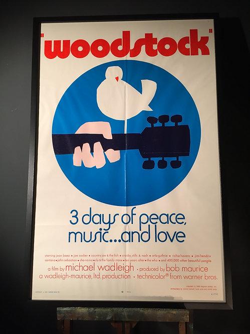 Movie poster of the legendary Woodstock