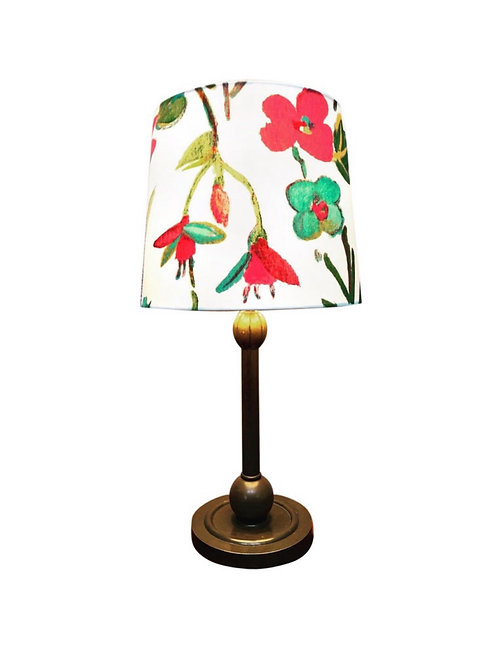 Art Deco Brass Table Lamp with an Art by May Limited Edition Lampshade