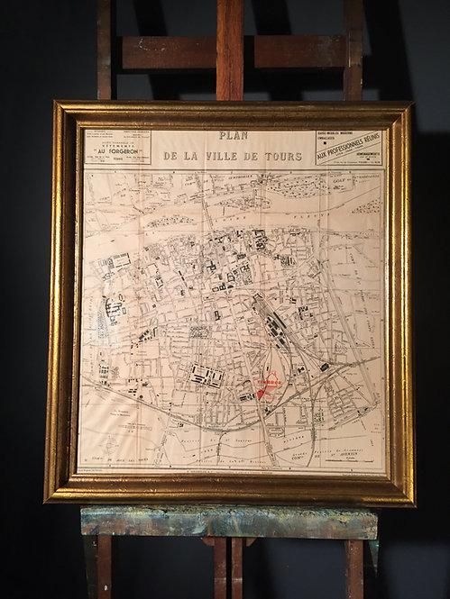 1950s map of Paris