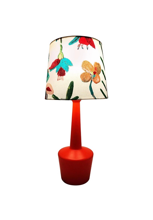 Vintage Kastrup Glass Table Lamp With A Limited Edition ArtbyMaj Lamp Shade