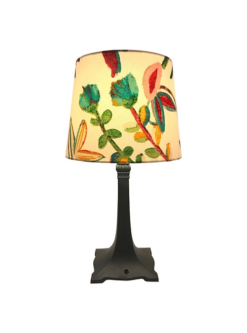 Art Deco Table Lamp with a limited edition Artbymaj Lampshade